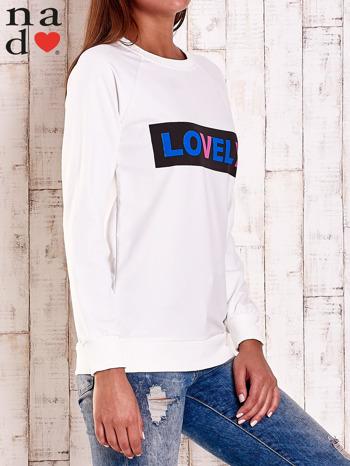Ecru bluza z napisem LOVELY                                  zdj.                                  3