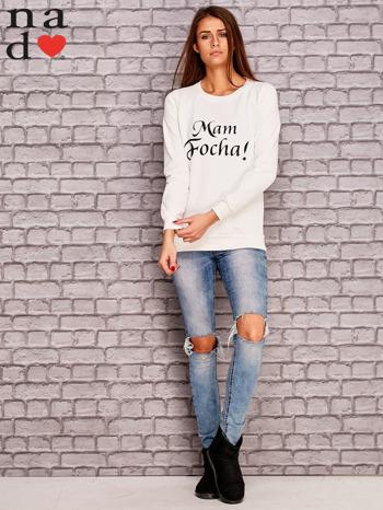 Ecru bluza z napisem MAM FOCHA                              zdj.                              2
