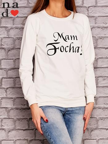 Ecru bluza z napisem MAM FOCHA                              zdj.                              3