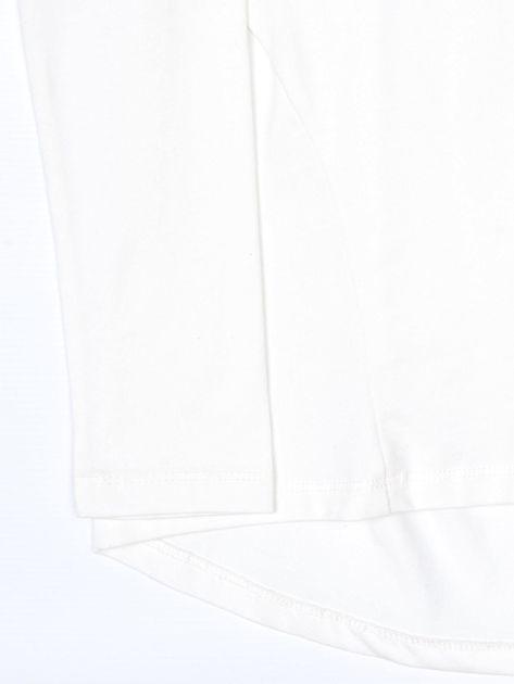 Ecru bluzka dla dziewczynki z tekstowym nadrukiem                              zdj.                              4