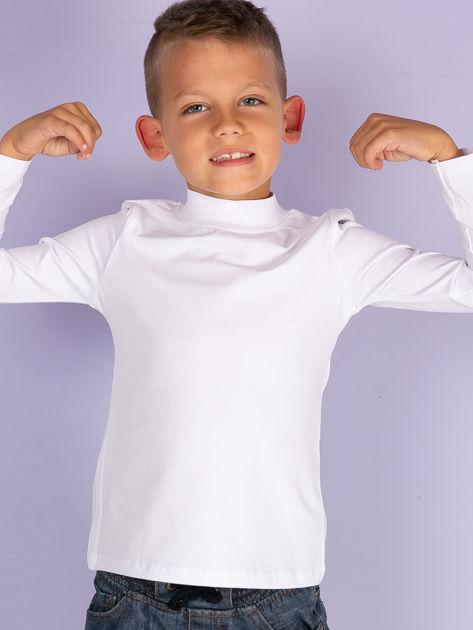 Ecru bluzka dziecięca z półgolfem                               zdj.                              13