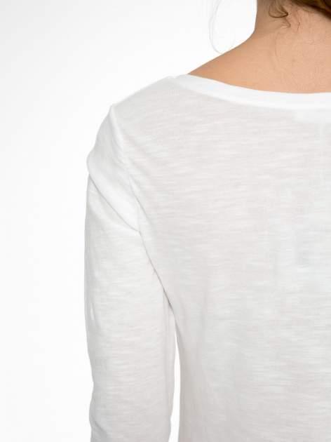 Ecru bluzka z nadrukiem Central Parku                                  zdj.                                  10