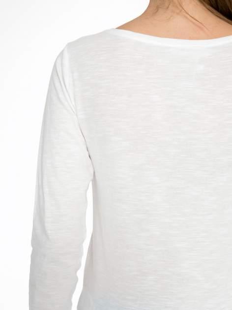 Ecru bluzka z nadrukiem NEW YORK CITY                                  zdj.                                  9