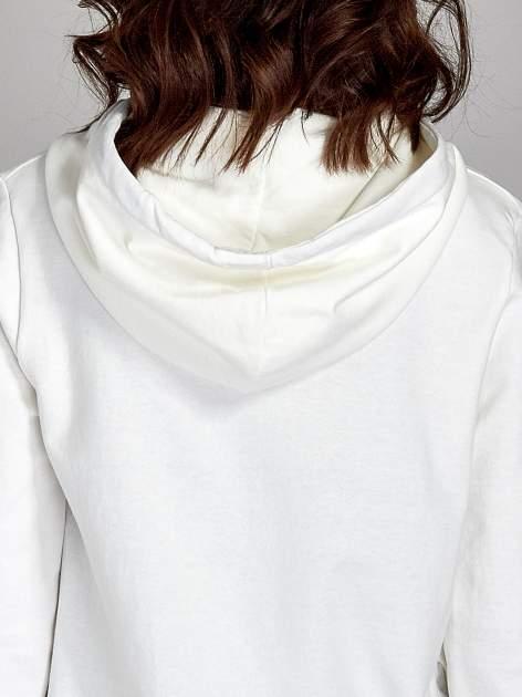 Ecru damska bluza z kapturem i napisem SEATLE 1990                                  zdj.                                  8