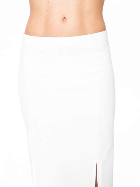 Ecru długa spódnica maxi z dwoma rozporkami z boku                                  zdj.                                  7