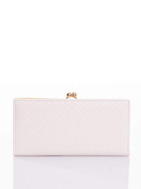 Ecru elegancki portfel na bigiel                                  zdj.                                  1
