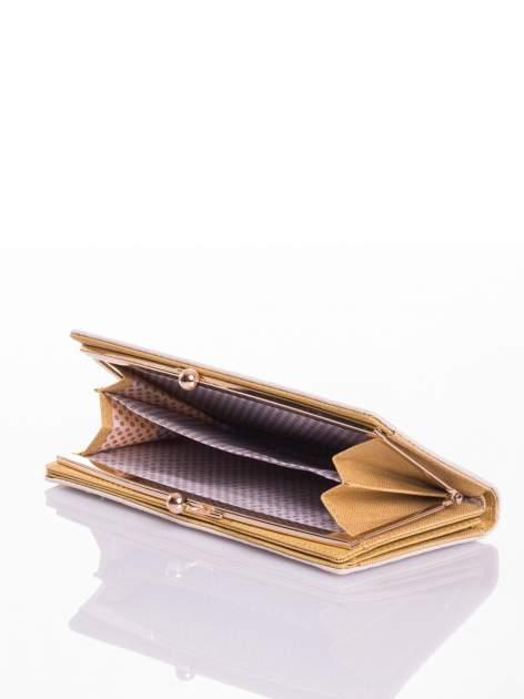 Ecru elegancki portfel na bigiel                                  zdj.                                  4