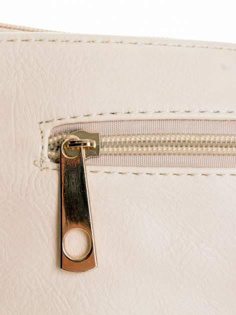 Ecru kopertówka z dżetami motyw wąsów                                  zdj.                                  5
