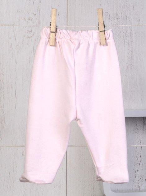 Ecru-różowy 5-elementowy 100% bawełniany zestaw niemowlęcy dla dziewczynki w kwiatuszki                              zdj.                              6