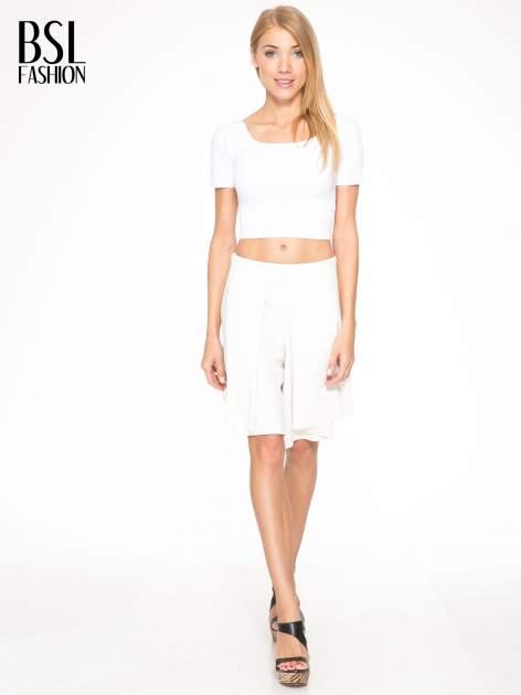 Ecru spódnicospodnie z zakładkami                                  zdj.                                  5
