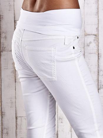 Ecru spodnie ciążowe slim                                  zdj.                                  6