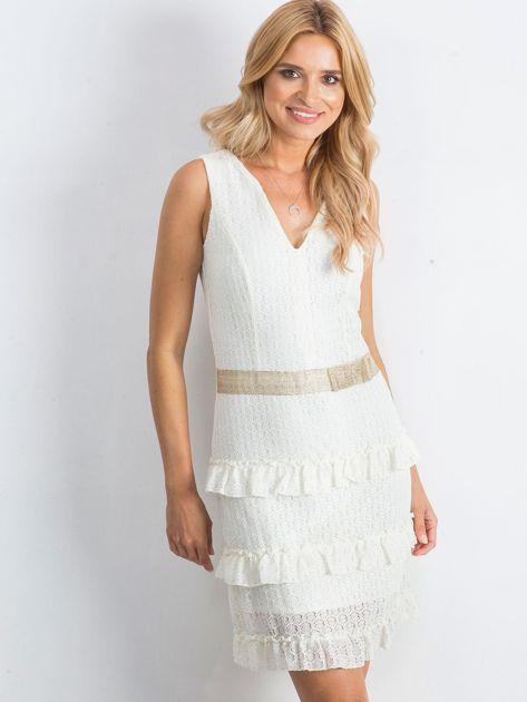 Ecru sukienka Versatility                              zdj.                              1