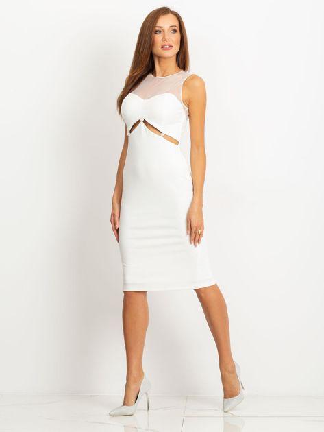 Ecru sukienka Vibes                              zdj.                              3