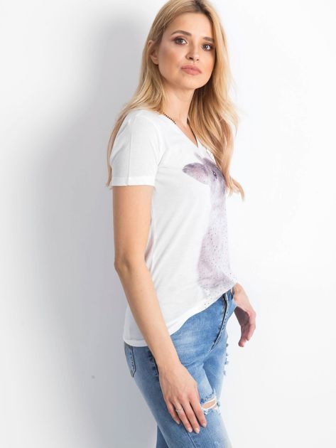 Ecru t-shirt Bunny                              zdj.                              3
