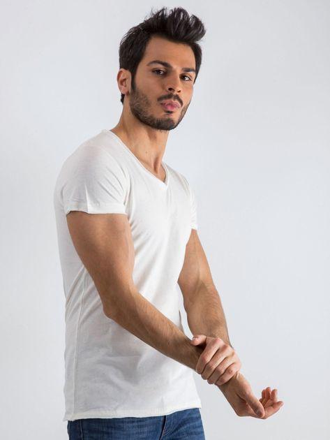 Ecru t-shirt męski Mixture                              zdj.                              1