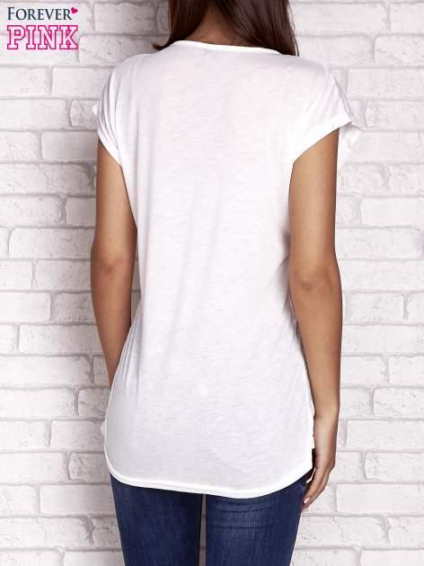 Ecru t-shirt z motywem dni tygodnia emoji weekday                                  zdj.                                  4