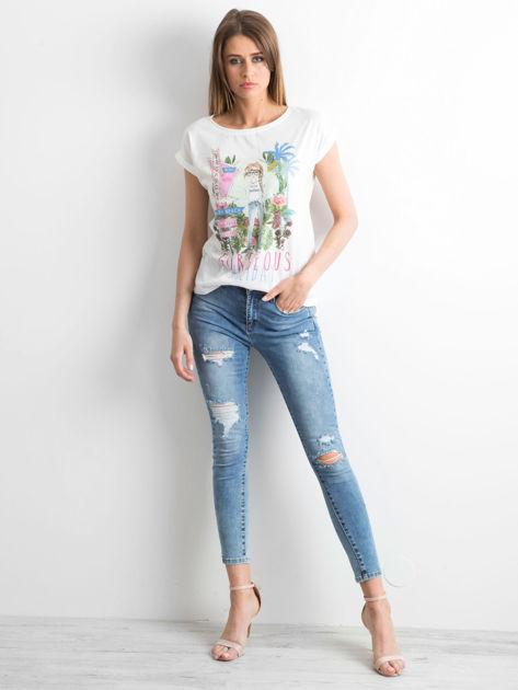 Ecru t-shirt Gorgeous                              zdj.                              4