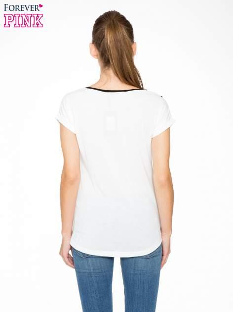 Ecru t-shirt z napisem DUMA LOVE                                  zdj.                                  4