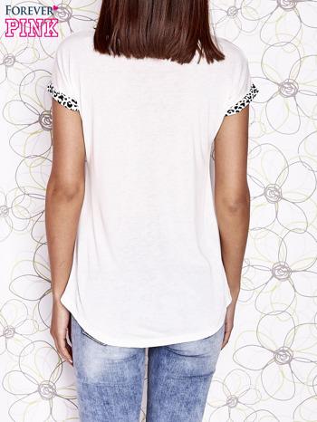Ecru t-shirt z napisem LOVE AND SWAG                                  zdj.                                  2