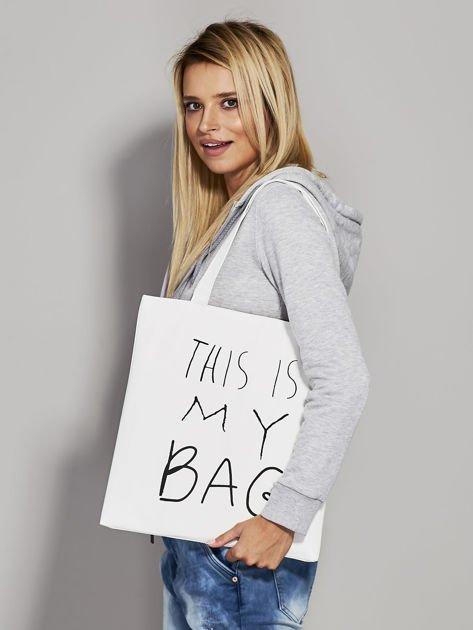 Ecru torba materiałowa THIS IS MY BAG                                  zdj.                                  2