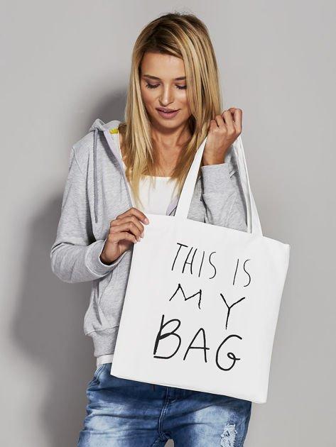 Ecru torba materiałowa THIS IS MY BAG                                  zdj.                                  3