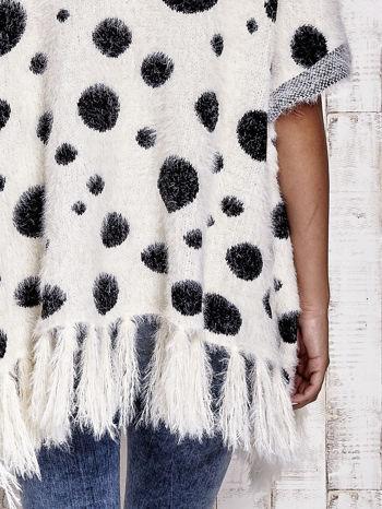 Ecru włochaty sweter w grochy                                  zdj.                                  10