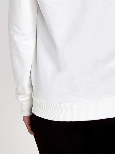 Ecru zasuwana bluza z kapturem z napisem STYLISH & LOVABLE                                  zdj.                                  7
