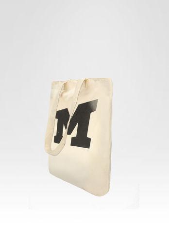 Ekotorba na zakupy z nadrukiem litery M                                  zdj.                                  3