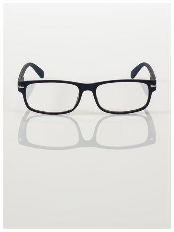 Eleganckie czarne matowe korekcyjne okulary do czytania +3.0 D  z sytemem FLEX na zausznikach