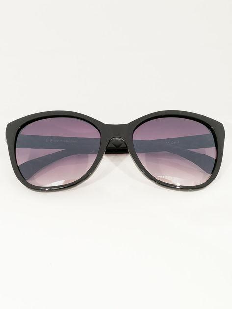 Eleganckie czarne przeciwsłoneczne okulary damskie                              zdj.                              3