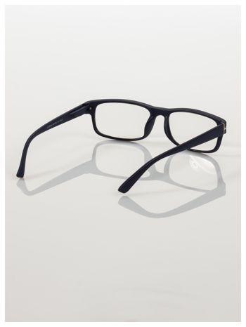 Eleganckie granatowe matowe korekcyjne okulary do czytania +2.5 D  z sytemem FLEX na zausznikach                                  zdj.                                  4