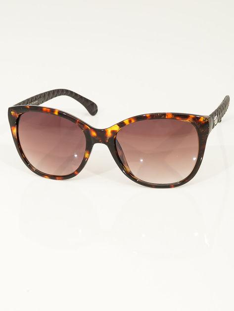 Eleganckie przeciwsłoneczne okulary damskie w kolorze pantery                              zdj.                              1