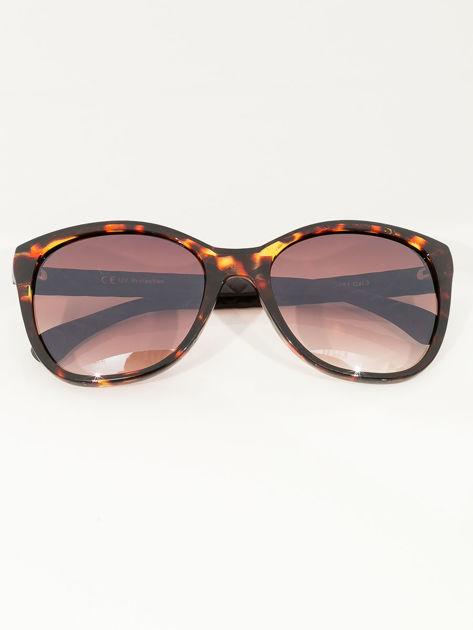 Eleganckie przeciwsłoneczne okulary damskie w kolorze pantery                              zdj.                              2