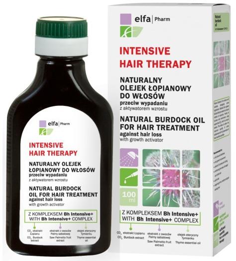 Elfa Pharm Intensive Hair Therapy Naturalny Olejek łopianowy przeciw wypadaniu włosów 100 ml                              zdj.                              1