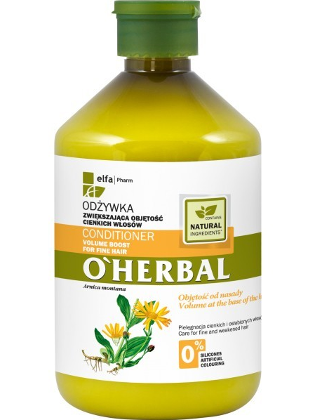 Elfa Pharm O'Herbal Odżywka do włosów cienkich i osłabionych z arniką 500 ml                              zdj.                              1