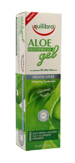 """Equilibra Aloe Gel Pasta do zębów wybielająca 30% aloesu  75ml"""""""