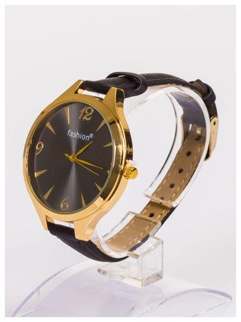 FASHION Duży damski zegarek na delikatnym skórzanym pasku                                   zdj.                                  2