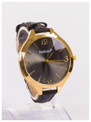 FASHION Duży damski zegarek na delikatnym skórzanym pasku                                   zdj.                                  3