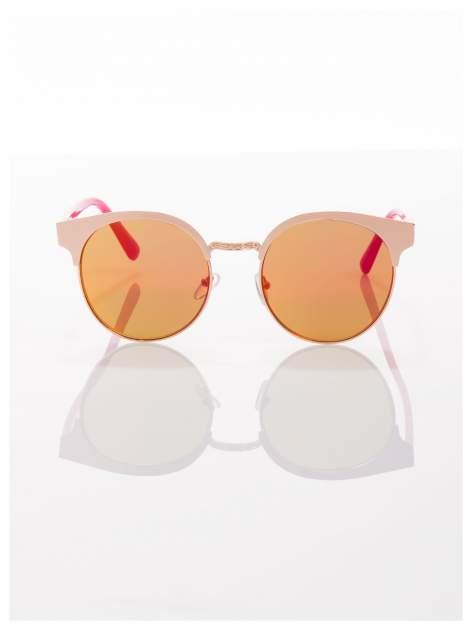 FASHION okulary przeciwsłoneczne KOCIE OCZY stylizowane na FENDI różowo-złote                                  zdj.                                  3