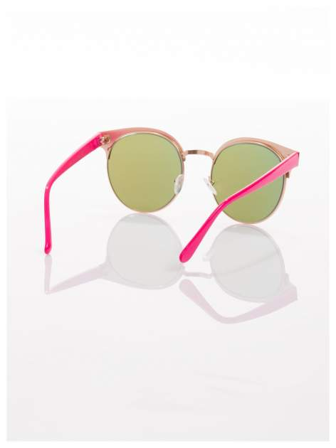 FASHION okulary przeciwsłoneczne KOCIE OCZY stylizowane na FENDI różowo-złote                                  zdj.                                  4