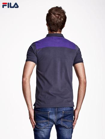 FILA Fioletowa modułowa koszulka polo męska
