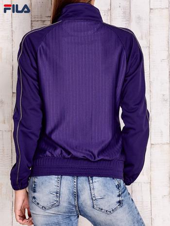 FILA Fioletowa sportowa bluza w drobne paski