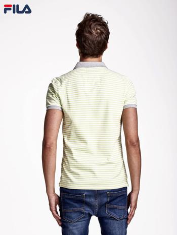 FILA Zielona koszulka polo męska w drobne paski