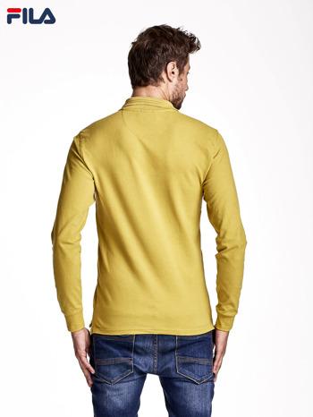 FILA Żóła bluzka męska z kołnierzykiem