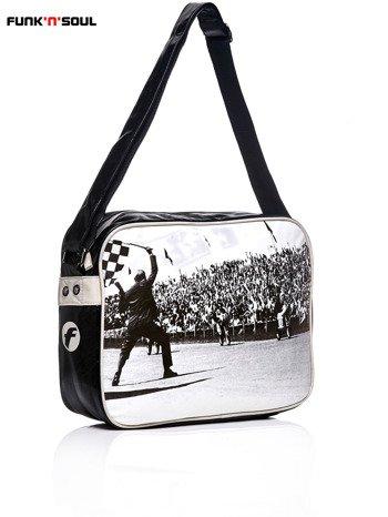 FUNK N SOUL Czarna torba na ramię w stylu retro