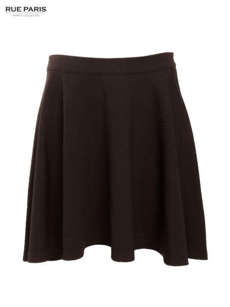 Fakturowana czarna spódnica z plisami i lekko wydłużonym tyłem                                  zdj.                                  9