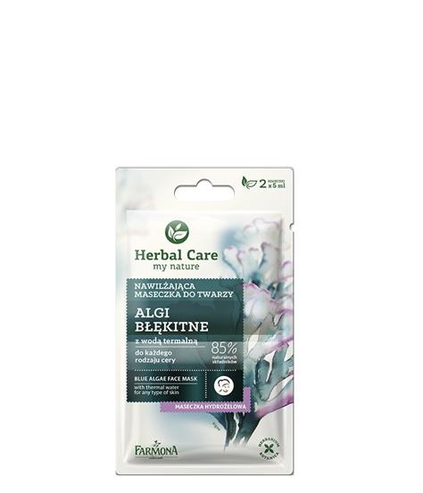 """Farmona Herbal Care Maseczka nawilżająca do twarzy Algi Błękitne  2 x 5ml"""""""