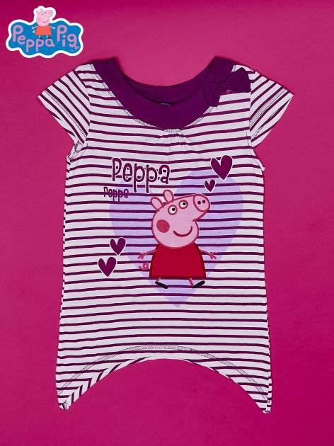 Fioletowa asymetryczna tunika dla dziewczynki ŚWINKA PEPPA                                  zdj.                                  1