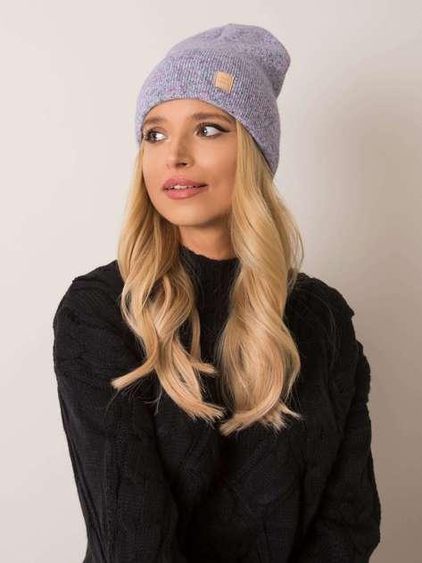 Fioletowa czapka damska RUE PARIS