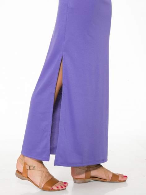 Fioletowa maxi spódnica z rozcięciem z boku                                  zdj.                                  7